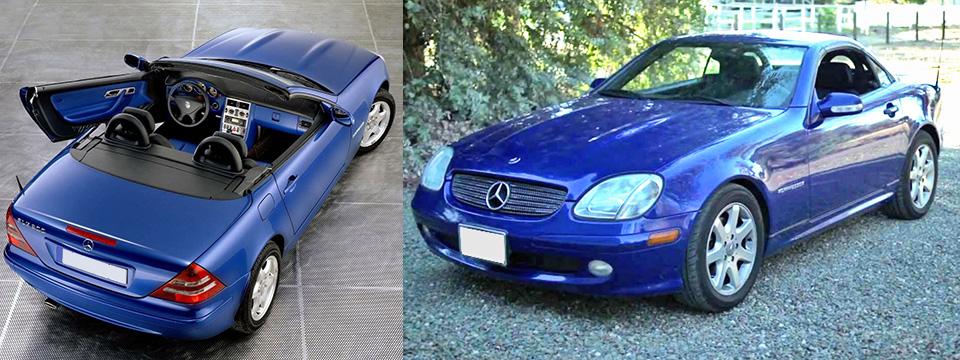 Mercedes SLK convertible