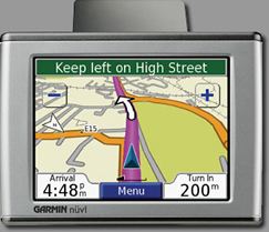 Garmin Nuvi GPS on Hire Car Amalfi fleet